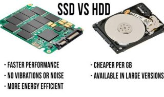 Comparison between SDD & HDD