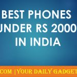 Best Mobile Phones Under Rs 2000 in India