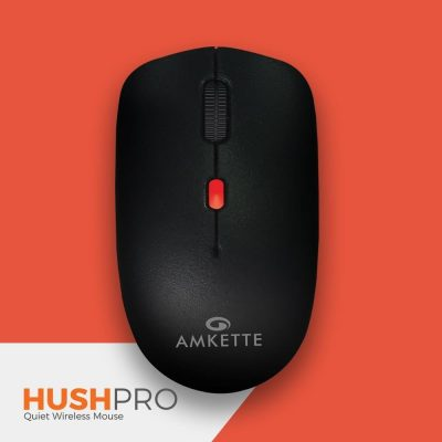 Amkette HushPro-The Quiet Wireless Mouse