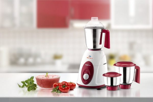 Bajaj Majesty Classic 750 Mixer Grinder White & Red