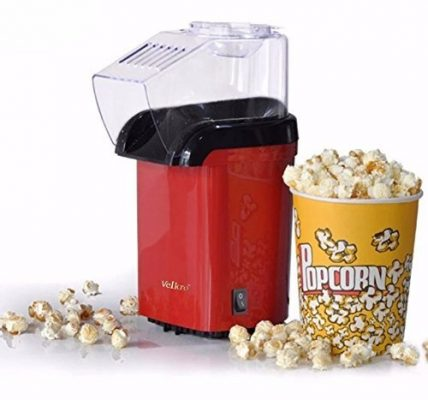 Krevia Red Hot Air Popcorn Maker Popper Popping Machine 1200 Watts