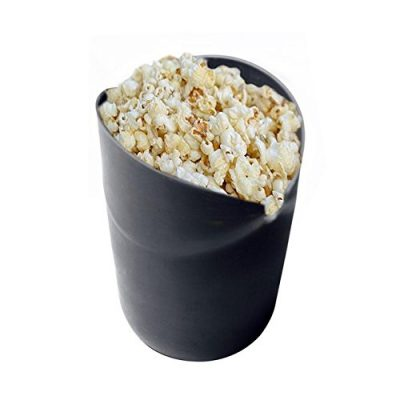 Pinkdose Black Bucket Microwave Pop Corn Bowl Maker