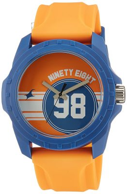 Tees Analog Orange Dial Unisex Watch -38018PP02C