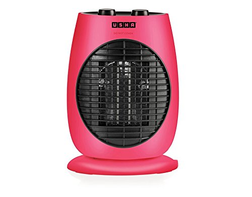 Usha Fan Heater (3638 PTC) 2000-Watt with Triple Safety Protection (Pink)