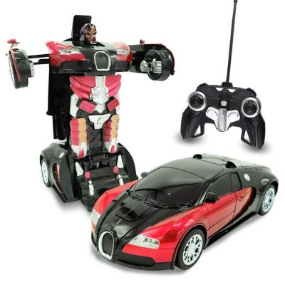Kids RC Transforming Robot Toy Red Autobots