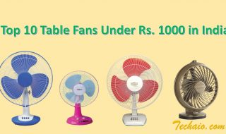 Top 10 Table Fans Under Rs. 1000 in India