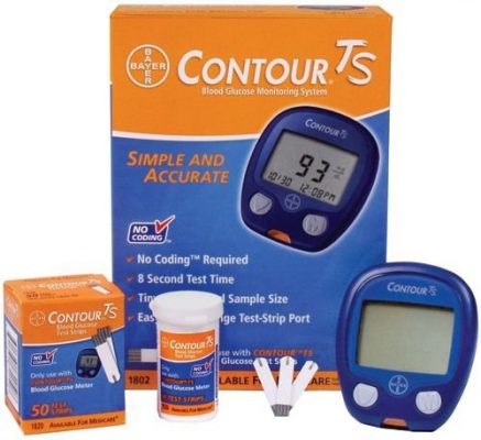 Bayer Contour TS Blood Glucose Monitor Glucometer with 10 free Strips