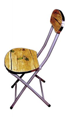 LK Portable Seating Chair Multipurpose Wooden And Iron Folding Chair