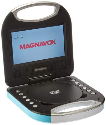 Magnavox MTFT750-BL Blue 7 Inch Portable DVD Player