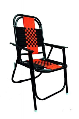 Mbtc Familo Stripe Chair In Black