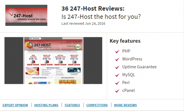 247-Host really reliable around the clock