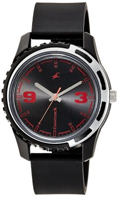 Analog Black Dial Men's Watch -NJ3114PP03C