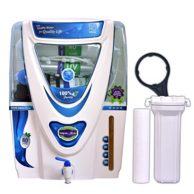 Aqua Ultra Epic A1024 UX2124 14 Stage RO UV UF TDS Alkaline Water Purifier (White)