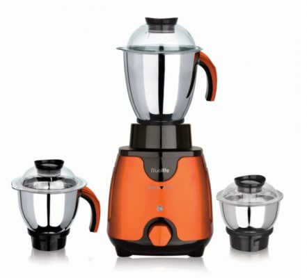 BlueLife Gravity Mixer Grinder 750 Watt with 3 Jars (Metallic Finish)