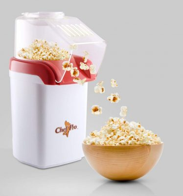 Chef Pro CPM093 1200-Watt Popcorn Maker (Red-White)