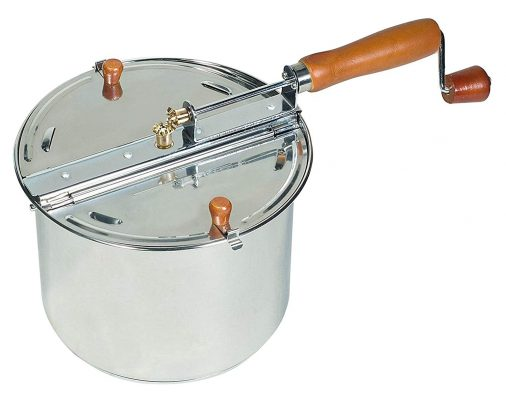 Cook N Home 02529 Stovetop Popcorn Popper, Silver