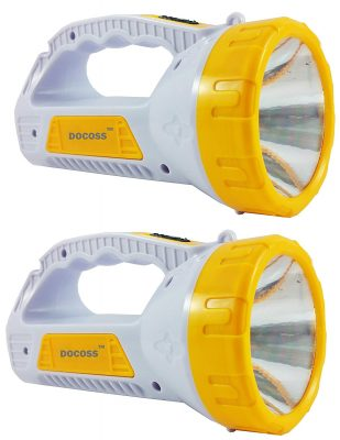 DOCOSS (TM) - SET OF 2- Ultra Bright & Long Range Rechargeable Led Torch
