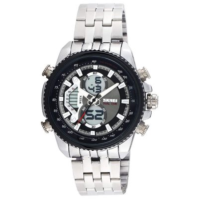 Faas Skmei Analog-Digital Chronograph Premium Black Dial Men's Watch – FA-0993