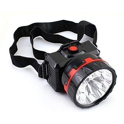 Fsi Powerful Ultra Bright Head Torch LED Rechargeable Lamp - 10 Watts (Black)