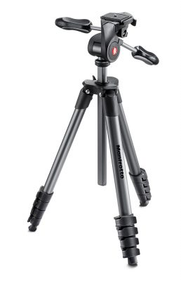 Manfrotto Compact Advanced Aluminium Tripod with 3-way Head MKCOMPACTADV-BK
