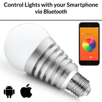 Mansaa Smartshine - Bluetooth Wireless Smart Led Bulb - (9W, E27, Silver Body)