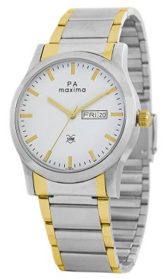 Maxima Attivo Day-Date White Dial MEN -O-46930CMGT