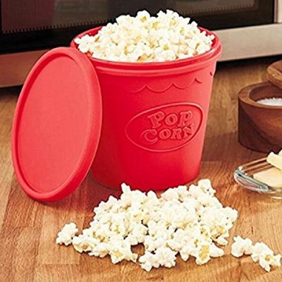 Original Red Silicone Microwave Popcorn Maker