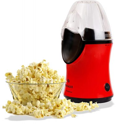 Singer ABS 1200 Watts Popcorn Maker, Red