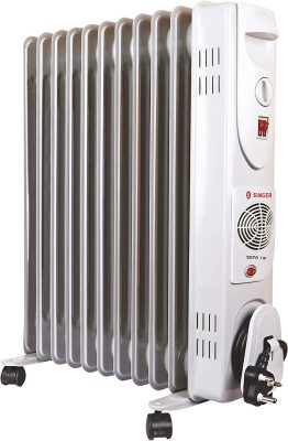 Singer OFR 11 FINS 2900 Watts Oil Filled Radiator Room Heater