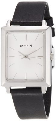 Sonata Classic Analog Silver Dial Men's Watch -NK7078SL03