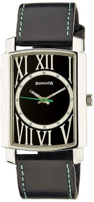 Sonata Yuva Analog Black Dial Men's Watch