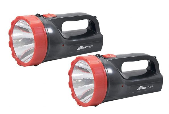 Tuscan Set of 2Pcs - Ultra Beam Rechargeable LED Torches(Black)