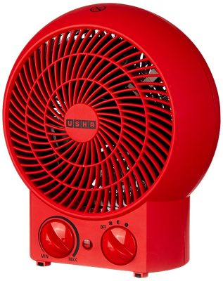 Usha Fan Heater (3620) 2000-Watt with Overheating Protection (Red)