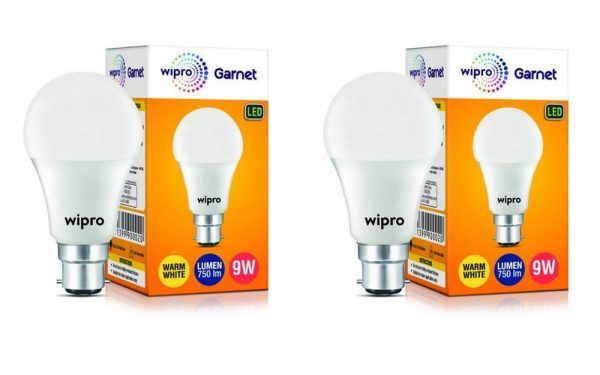 Wipro Garnet N90002 Base B22 9-Watt LED Bulb