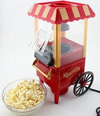 divinext Mini Countertop Retro Pop Corn Popper Hot Air Popcorn Maker Machine
