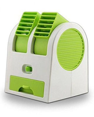 Brijbhoomi Mini Fan & Portable Dual Bladeless Small Air Conditioner