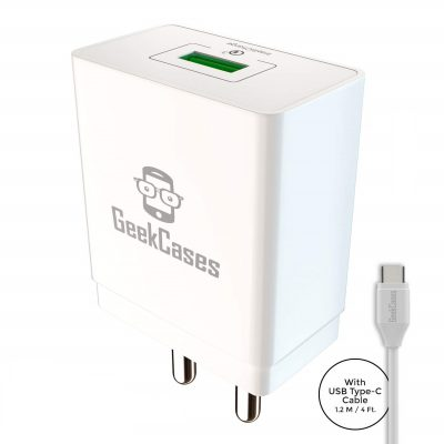 Geekcases Gc-Qc1U-Tc Zipcube Qc3.0 Wall Charger