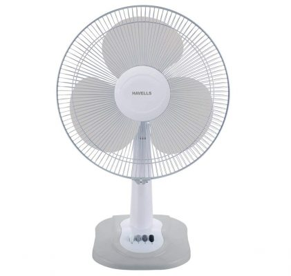 Havells Swing ZX Table Fan (Light Grey)