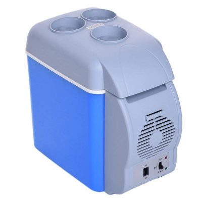 MK 12V 7.5L Portable Mini Warming and Cooling Vehicle Refrigerator