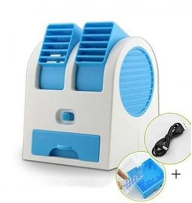 Moradiya fresh Plastic Dual Bladeless Mini Air Conditioner