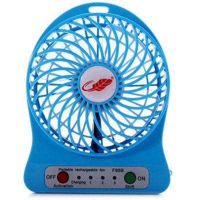 Powerpak 4-Inch Rechargeable Battery USB Mini Fan