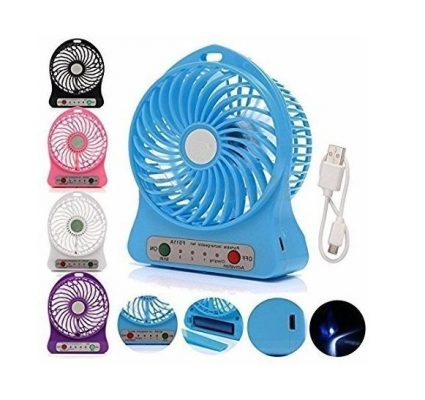 Prime Ecom Mini Portable Usb Rechargeable 3-Mode Fan