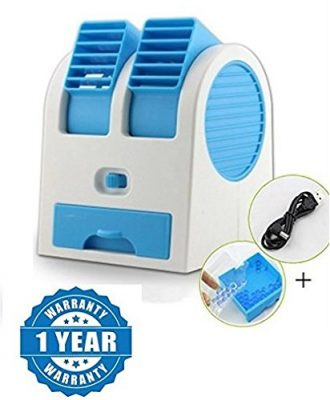 Raptas Mini Fan & Portable Dual Bladeless Small Water Air Cooler
