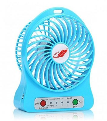 Unbranded Mini Portable Usb Rechargeable 3 Speed Fan Colors