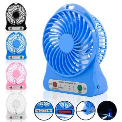 Us1984 Mini Portable Usb Rechargeable 3 Speed Fan