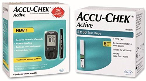 Accu Chek Glucometer with Active Strips
