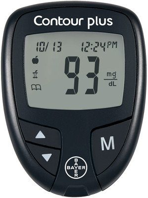 Contour Plus Blood Glucose Monitoring System Glucometer
