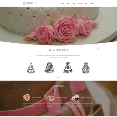 Wedding Cake Co Website Template