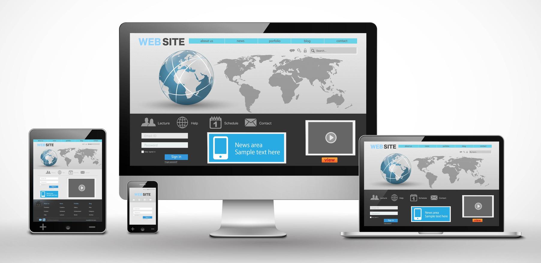 Develop a Creative Website