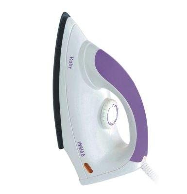 Inalsa Ruby 1000-Watt dry iron with Non-Stick Coated Soleplate